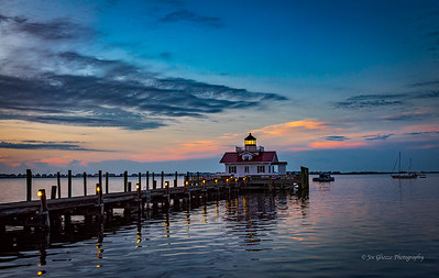 """Dawn at Roanoke Marshes Light"""