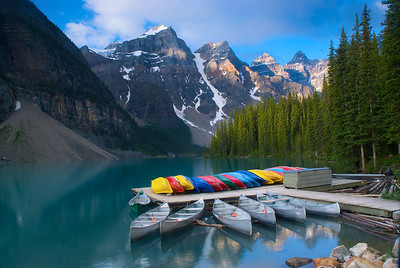 Moraine Lake Canoes – Banff National Park, Alberta