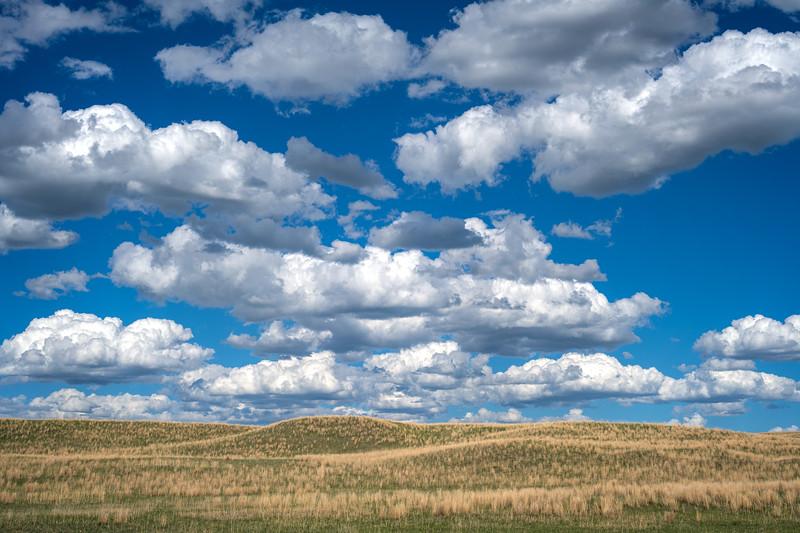 Cumulus clouds over the Nebraska Sandhills south of Valentine, Nebraska