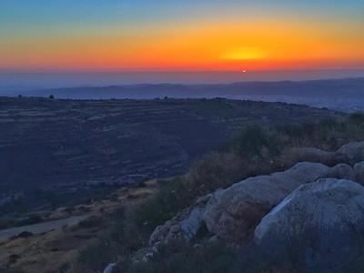 Desert sky dusk