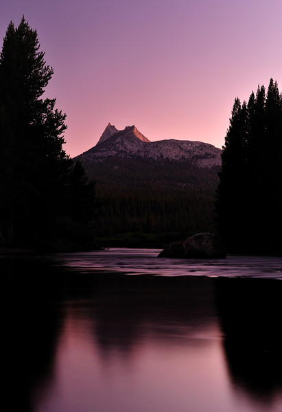 Sunset Over Tuolumne River