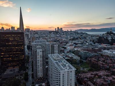 San Francisco Financial District at dusk