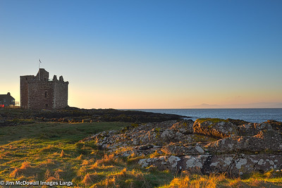 Ancient Castle of Portencross Seamill Scotland.