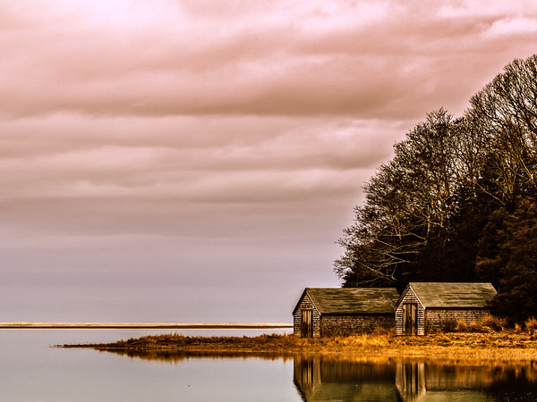 Boathouse on Salt Pond