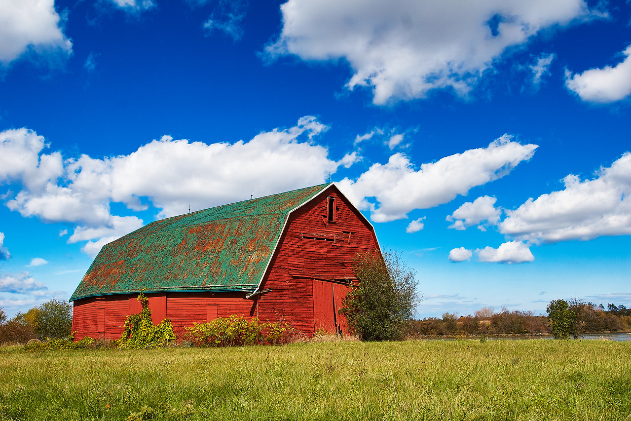 Red and Green Barn