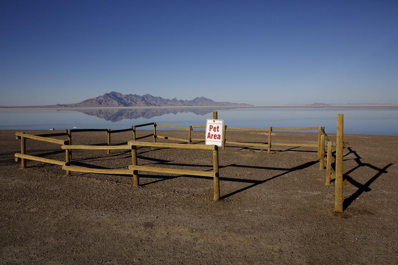Pet Area.  Bonneville Salt Flats, Utah