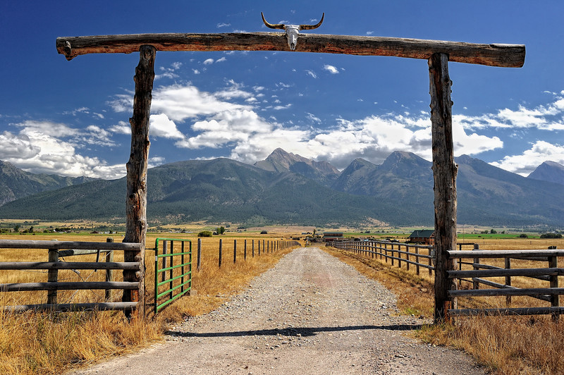 Ranch near the Mission Mountains, Montana