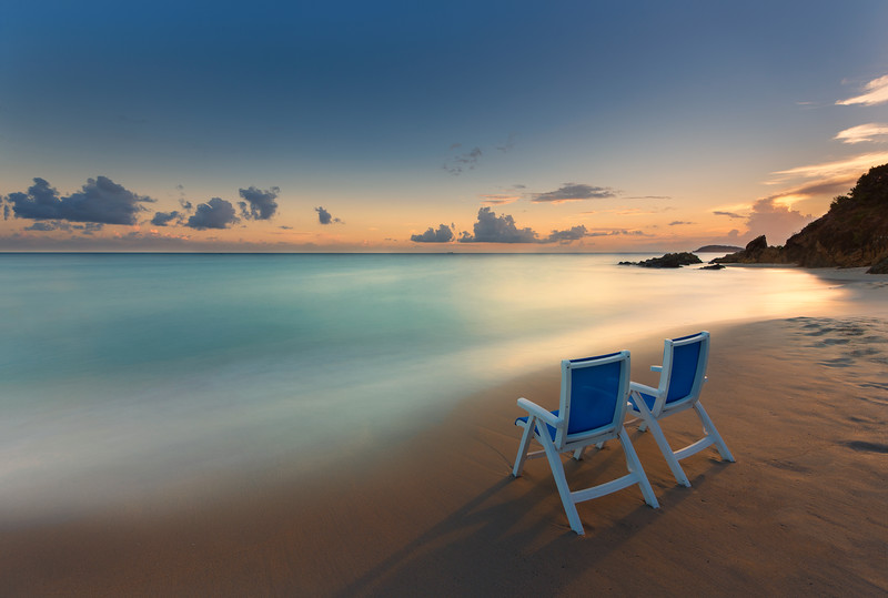 Sunset Bluebeard's Beach Club, St Thomas USVI