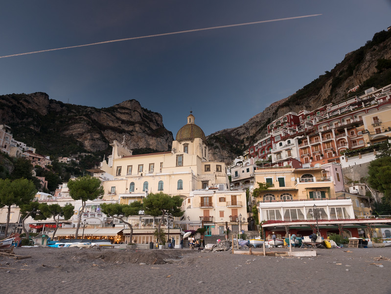 Looking Up from Positano