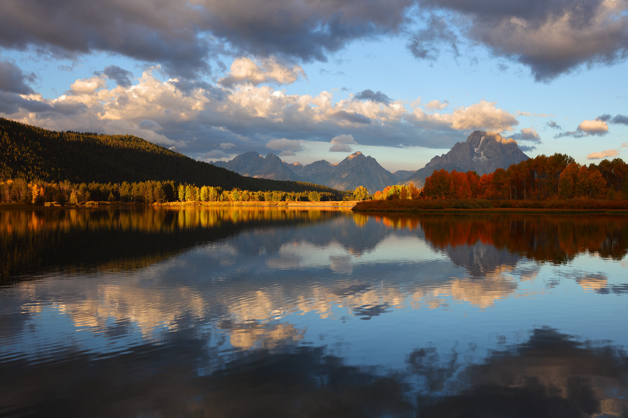 Fall Reflection at Oxbow Bend, Grand Teton National Park