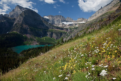 Grinnell Glacier Trail Grinnell Lake, Mt. Gould Glacier National Park, MT