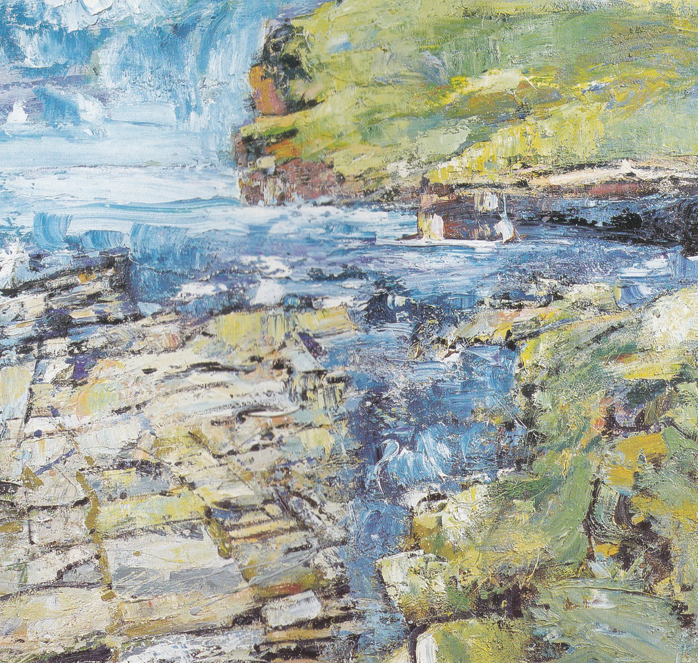 Peter McLaren, Marwick Head, Orkney, Oil on Board 36 x 36 inches