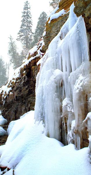 Icy Waterfall; Ishpeming, Michigan