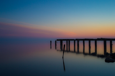 Abandoned jetty on Lough Neagh Co.Armagh N.ireland