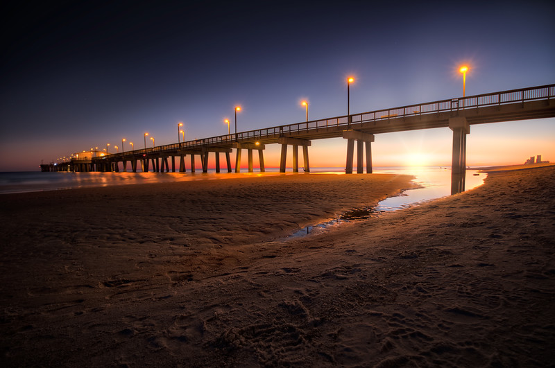 Gulf State Park Pier at Sunset - USA