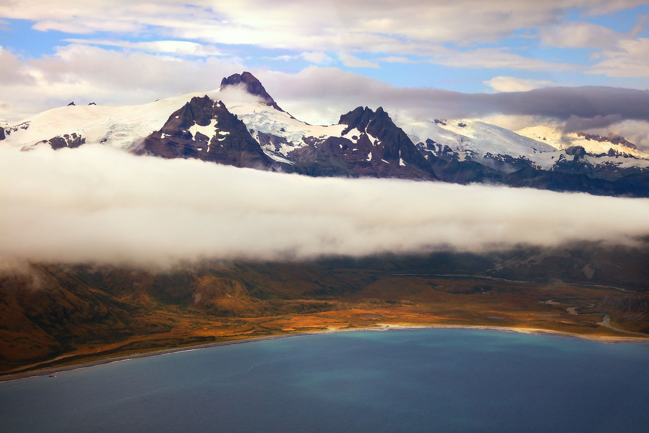 Remote Shelikof Strait Coast of Katmai National Park