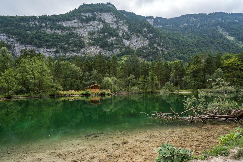 A tiny house on the lake