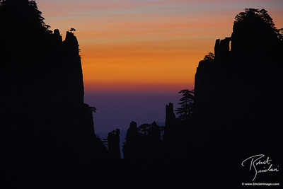Sunrise in Huangshan Mountains, China