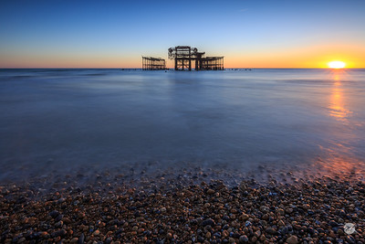 West Pier at low tide