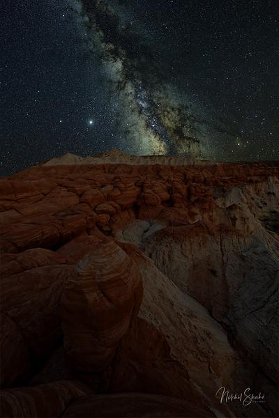 Milky Way with Jupiter & Saturn