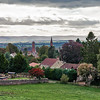 Scottish Town of Crieff with the perthshire Hills in the Misty Distance