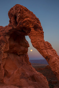 Elephant Rock Moonrise