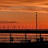 New Brighton Wind Turbines at Sunset