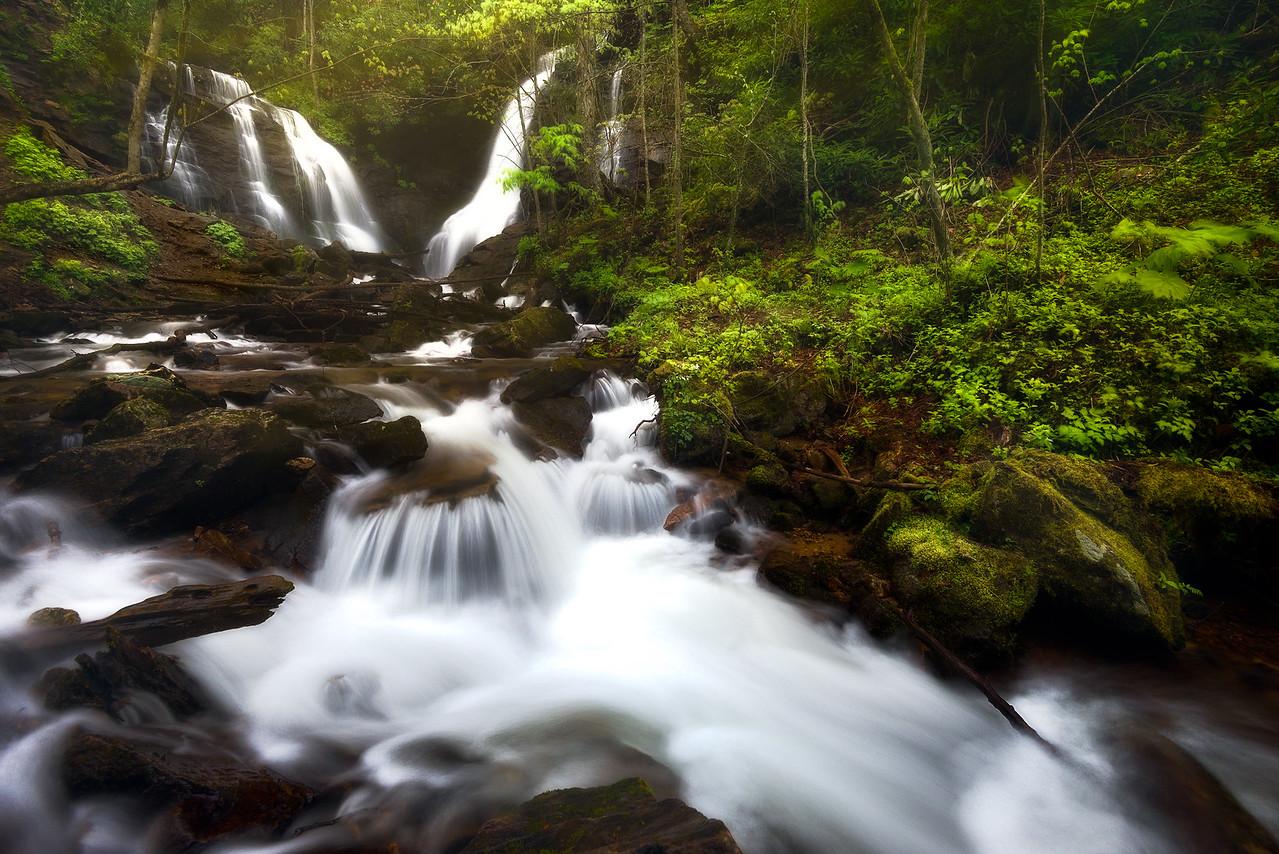 Soco Falls in spring