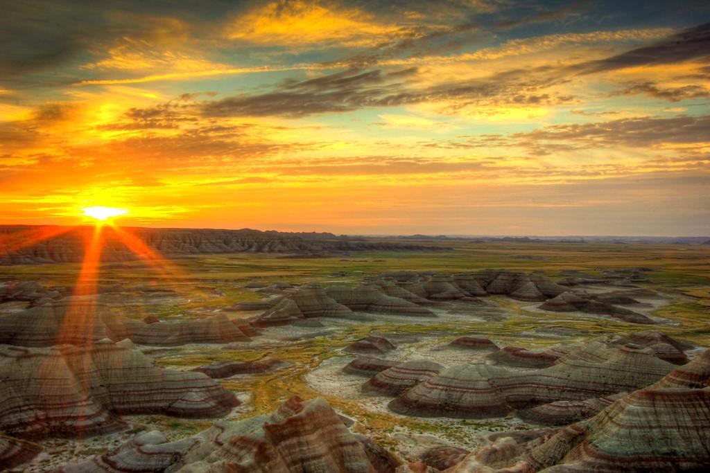 Sunrise at the Badlands