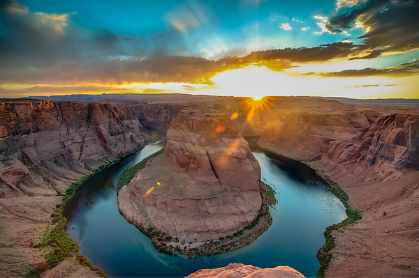 Sunset at Horseshoe Bend, Arizona