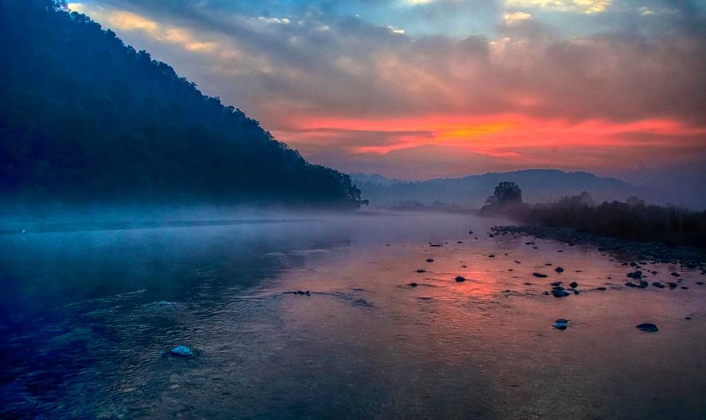 Sunrise in Dhikala