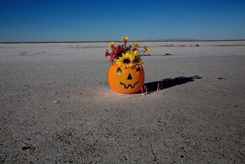 Halloween On The Bonneviille Salt Flats.  Utah