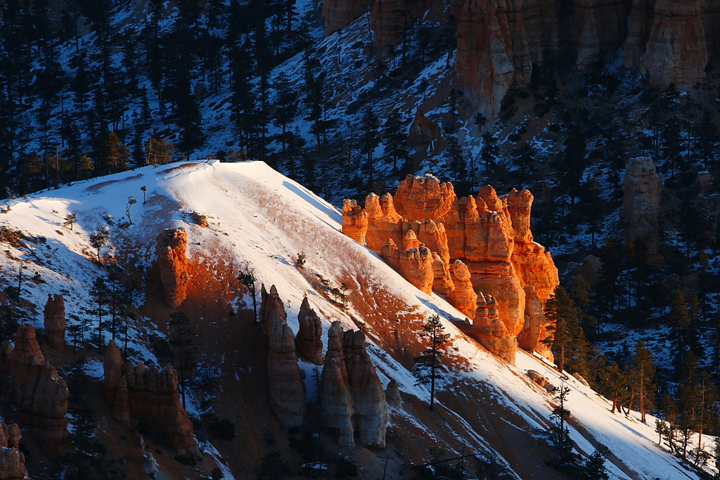 hoodoos at sunrise, Bryce Canyon National Park