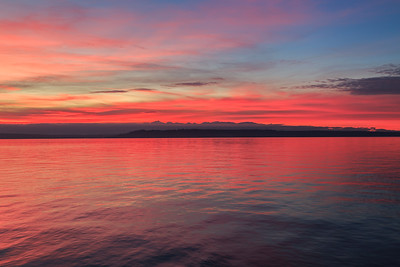 Red Sunset in Edmonds