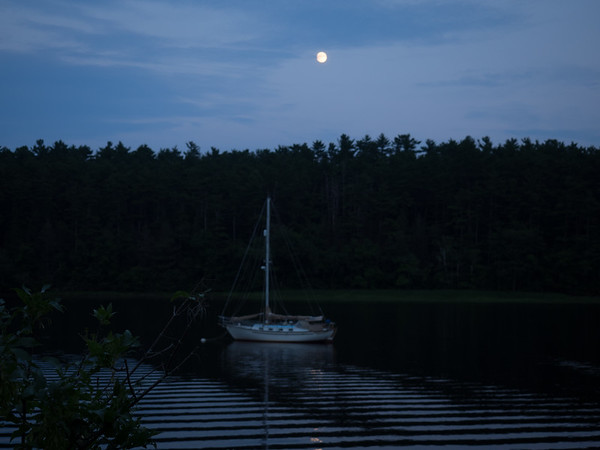 Moon Over The Merrimack River