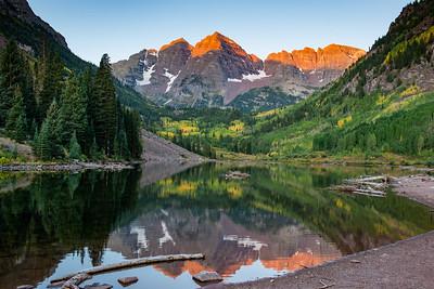 Morning at Maroon Lake