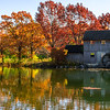 Autumn watermill