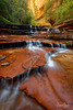 Archangel Falls in the Summer, The Subway at Zion National Park, Utah