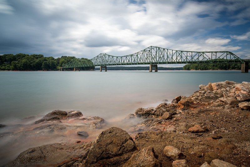 Browns Bridge was built in 1955 over the Chattahoochee River on Lake Lanier.  It replace a low water bridge that was covered by the lake.