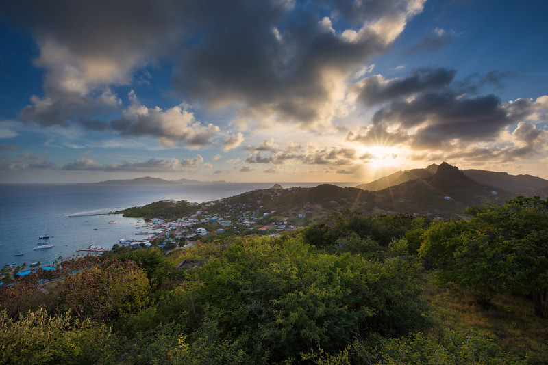 Clifton Bay, shot from Fort Hill - Union Island, Grenadines 2018