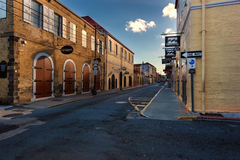 Main Street on a Sunday - St Thomas Virgin Islands