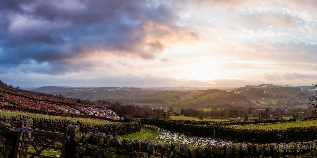 Peak District Sunset Pano