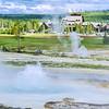 Yellowstone - Bubbling Geyser