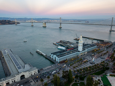 San Francisco Ferry Building at dusk
