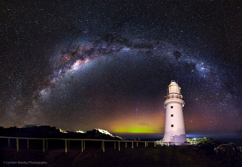 Milky Way , Aurora , Cape Otway Lighthouse. May 2017