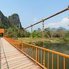 Suspension bridge in Vang Vieng
