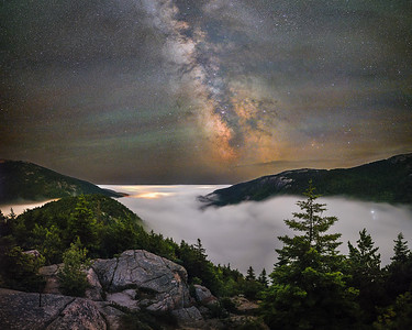 Night above Jordan Pond