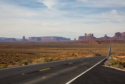 Road to Monument Valley from Utah