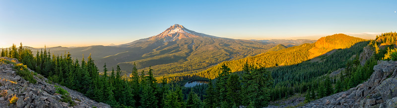 Mount Hood Sunset Panorama - Tom Dick and Harry Mountain-2