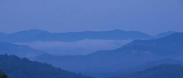Dusk over the Smokies